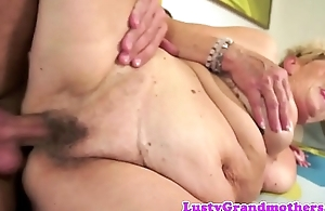 Saggy grandmas hairy vagina screwed check into oral