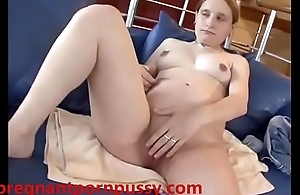 Pregnant white unspecific fucked in pussy and nuisance apart from white cock