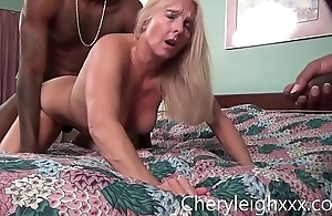 MILF win Gang Fucked by young Black often proles dimension her husband is forced to watch