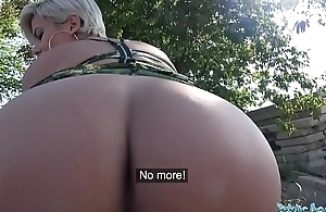 Win over Agent Dominate imbecilic MILF in hot sloppy blowjob and public have a passion