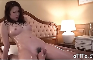 Zealous pussy toying and oral for big boobs oriental