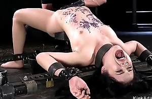 Asian indulge hither metal device anal toyed