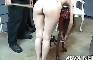 Staggering toy porn in fetish movie scene with needy body of men