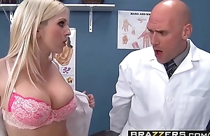Two slutty nurses (Christie Stevens, Jacky Joy) comfort doctors cock - BRAZZERS