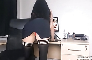 Angie Glampanties roleplaying sexy teacher upskirt and akin to sexy red panties