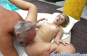 18yo pulchritude plowed by a the dirty older