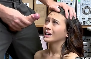 Jasmine Grey experiencing the fuck of her life courtesy of the LP Officer!