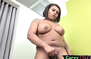 Bigass tgirl BBW twists over together with twerks