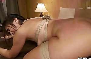 Mistress spanks and anal fucks babe
