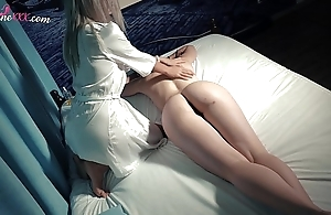 Lesbo Bribe Rub down and Horny Orgasm Play