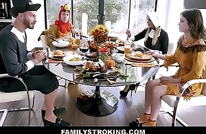 Hot MILF Step Mom Brooklyn Woo And Step Laddie Join Teen Step Son Rosalyn Sphinx And Step Dad Be useful to Family Thanksgiving Fuck Fest